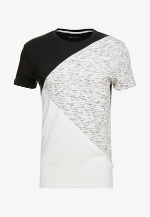 T-shirt con stampa - black/offwhite