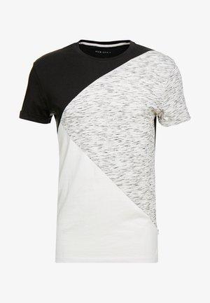 T-shirt imprimé - black/offwhite