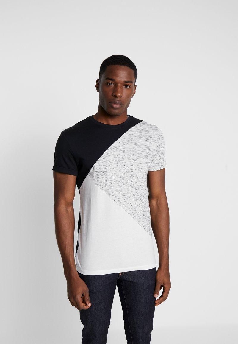 Pier One - T-shirt imprimé - black/offwhite