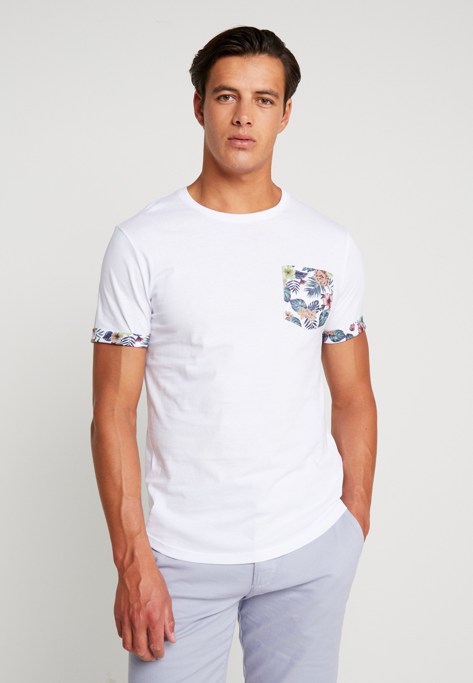 Pier One T-shirt z nadrukiem - white