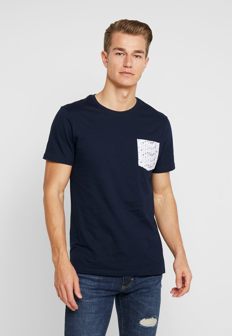 Pier One - Print T-shirt - dark blue