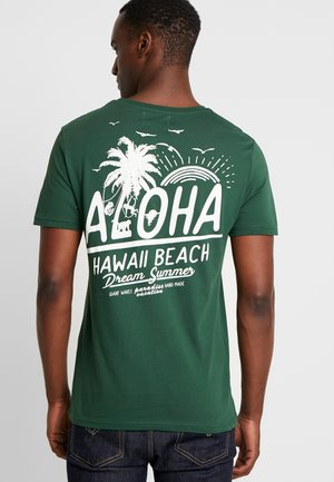 TEE GONE TROPO - Print T-shirt - green