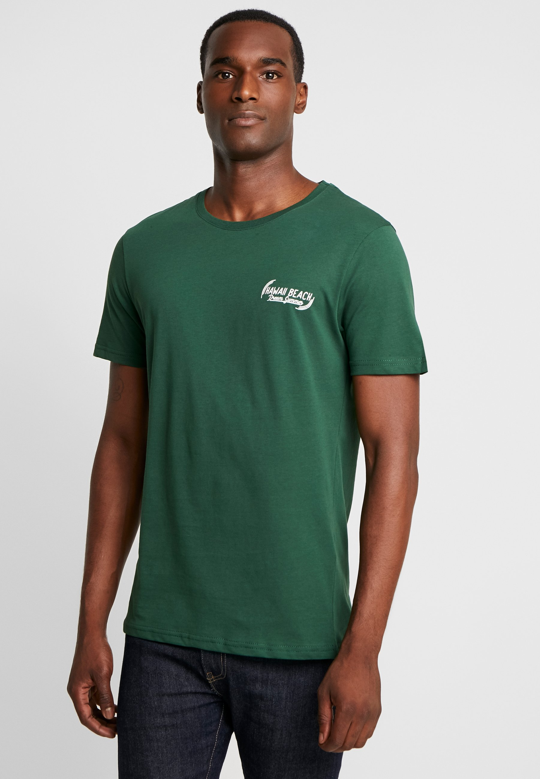 Pier One TEE GONE TROPO - Camiseta estampada green