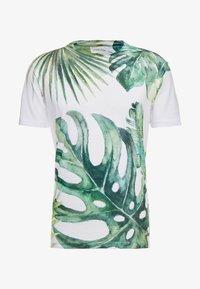 Pier One - TEE ALL OVER TREE - T-shirt med print - white - 3