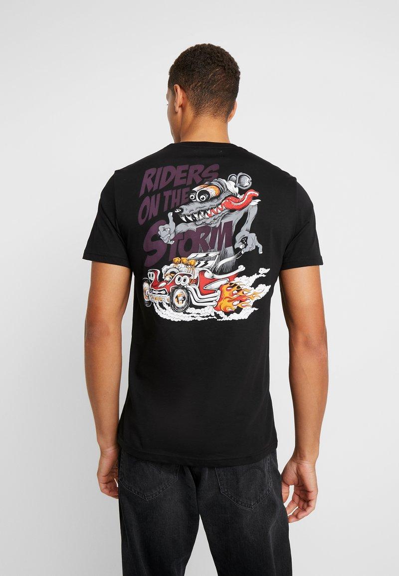 Pier One - MOTOR ANIMAL - T-Shirt print - black
