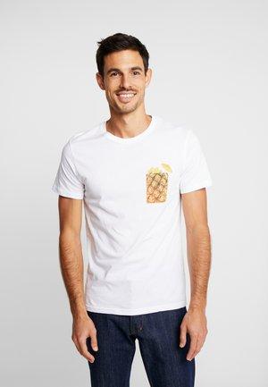 MELONE POCKET - T-shirt med print - white