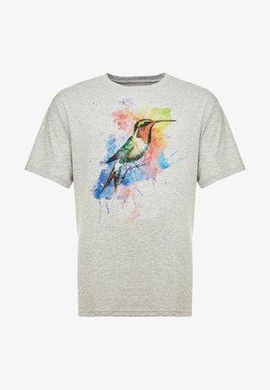 KOLIBRI - T-shirts med print -  mottled grey