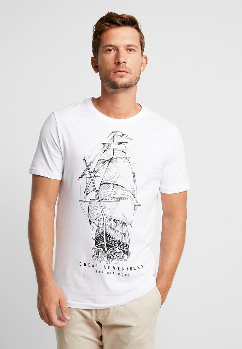 Pier One - GREAT ADVENTURES  - T-Shirt print - white