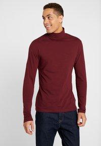 Pier One - T-shirt à manches longues - bordeaux - 0