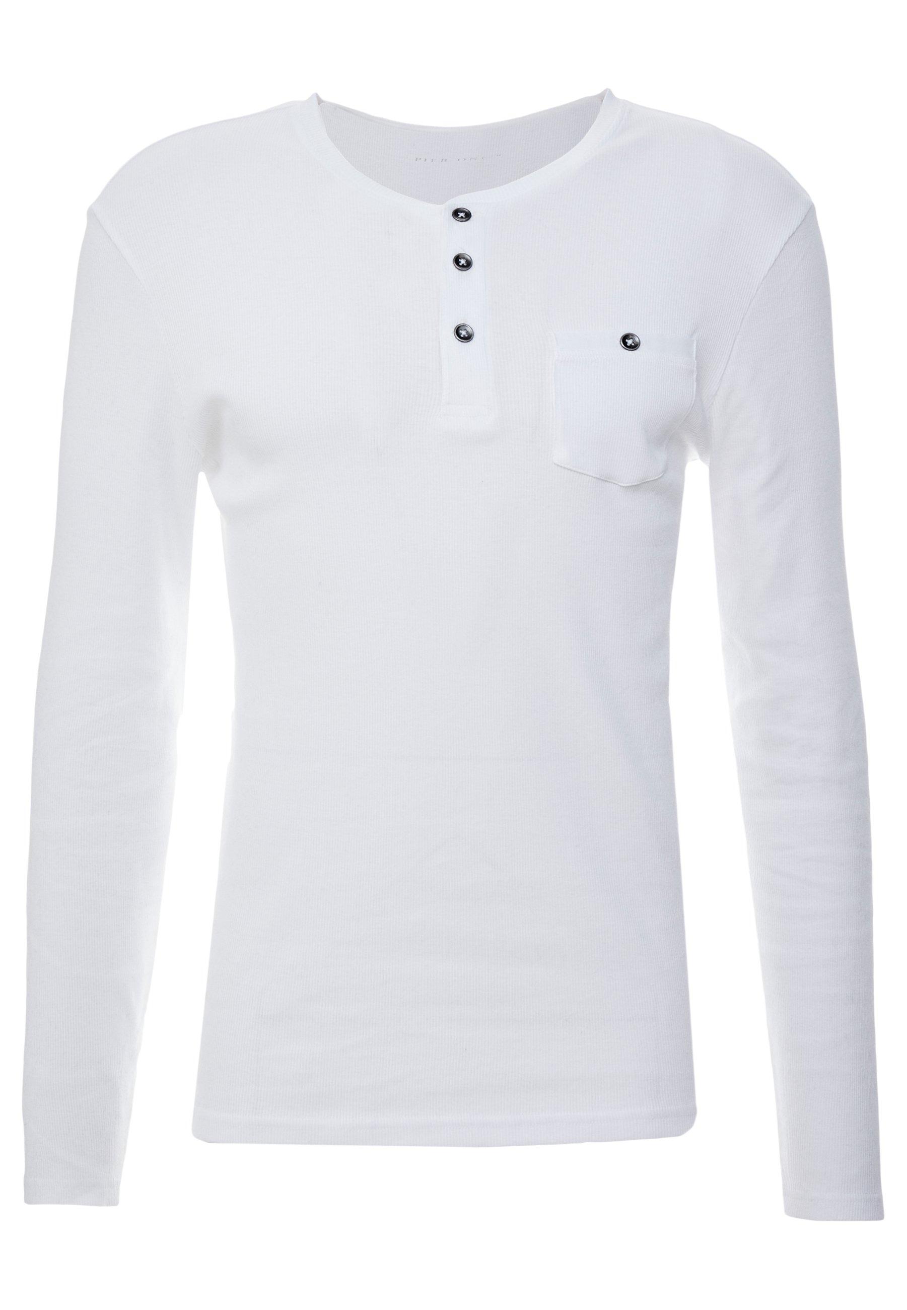 Pier One Bluzka z długim rękawem - white