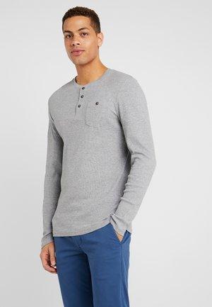 Long sleeved top - mid grey melange