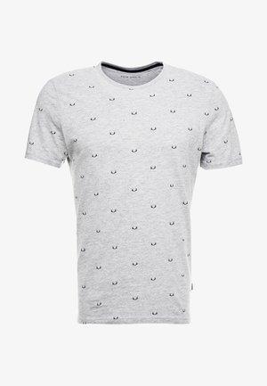 T-shirt z nadrukiem - mottled grey