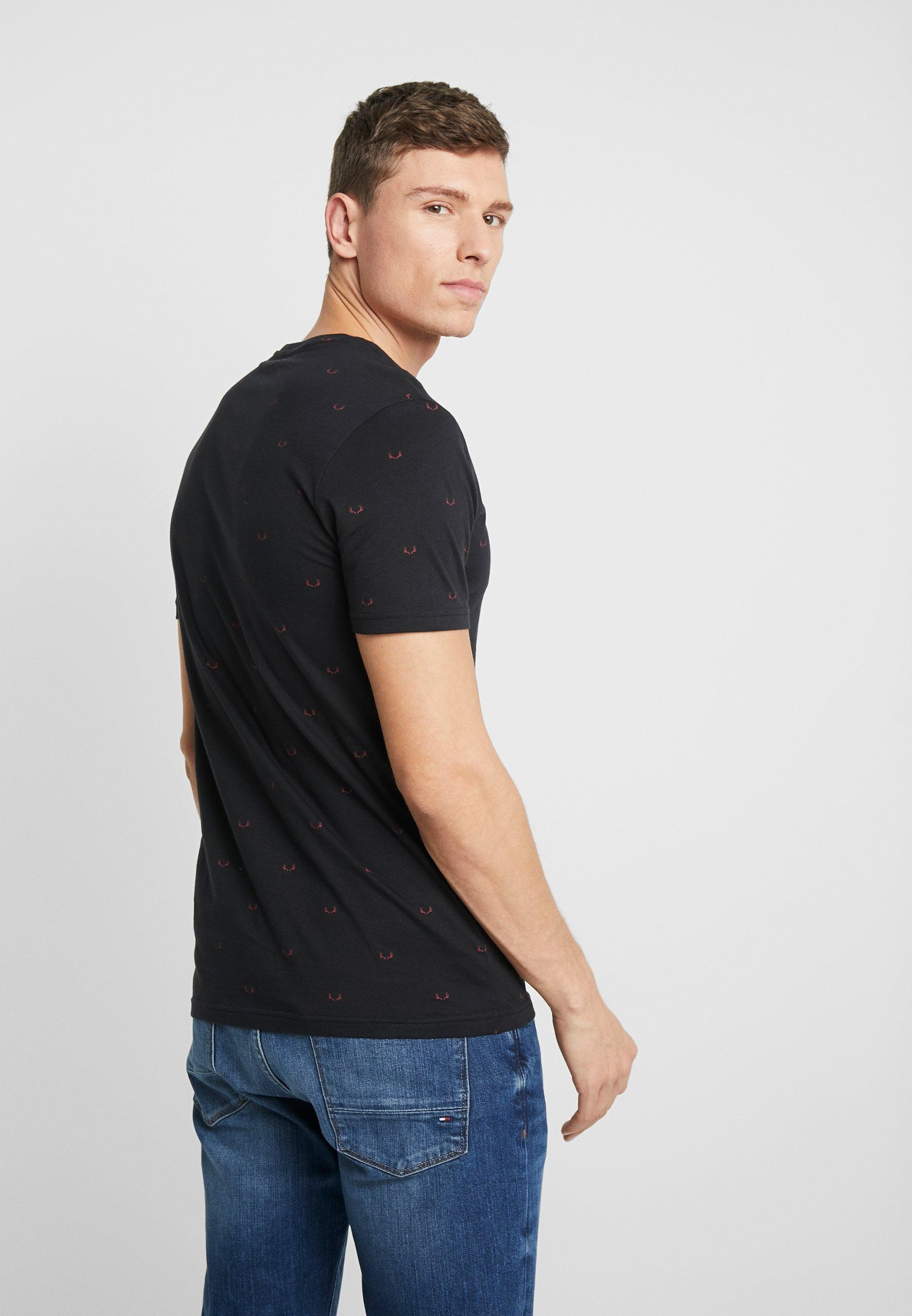 Pier One Camiseta estampada black