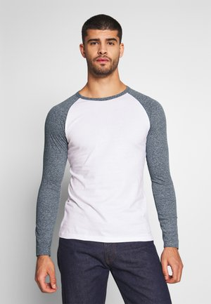 Maglietta a manica lunga - white/grey