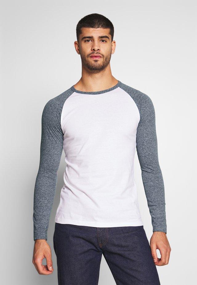Långärmad tröja - white/grey