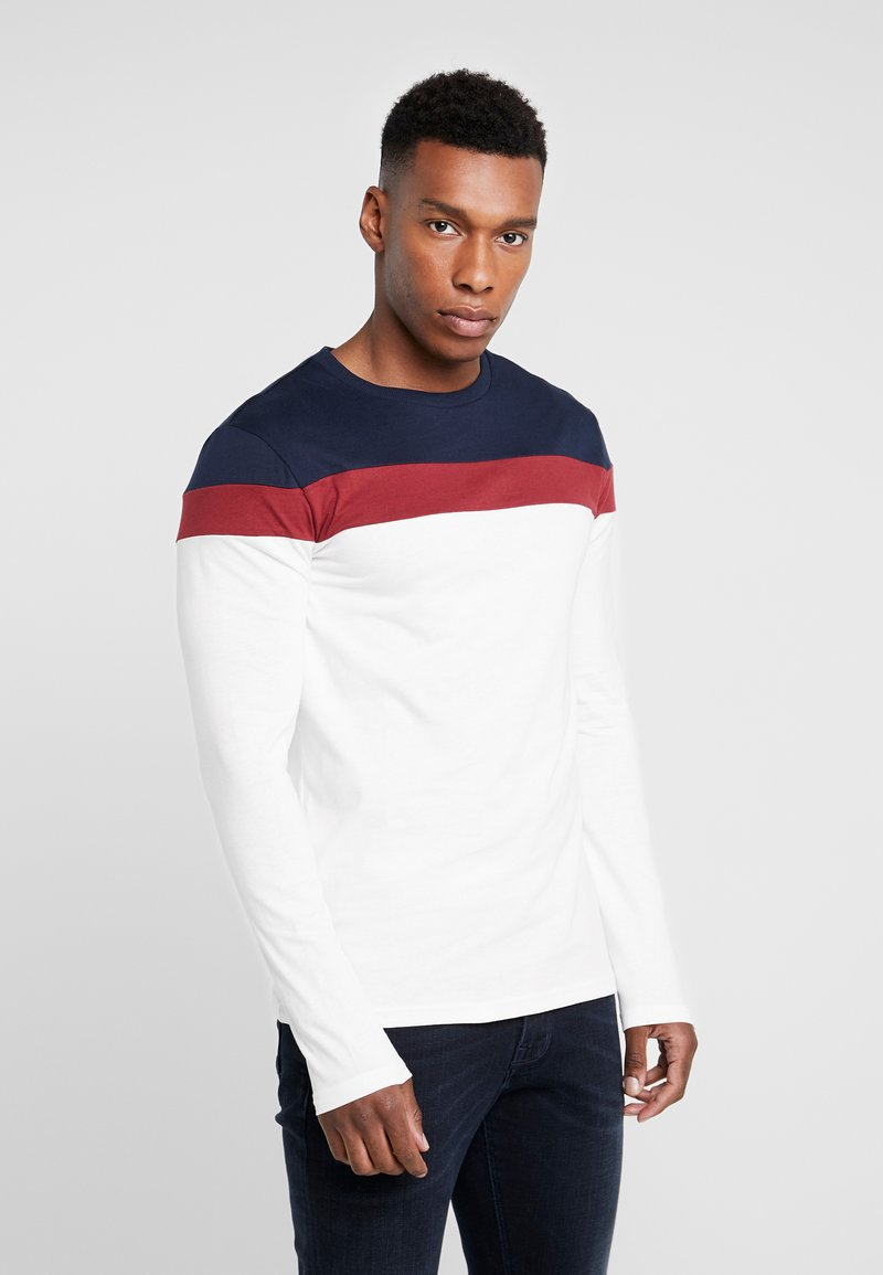 Pier One - Long sleeved top - offwhite/dark blue