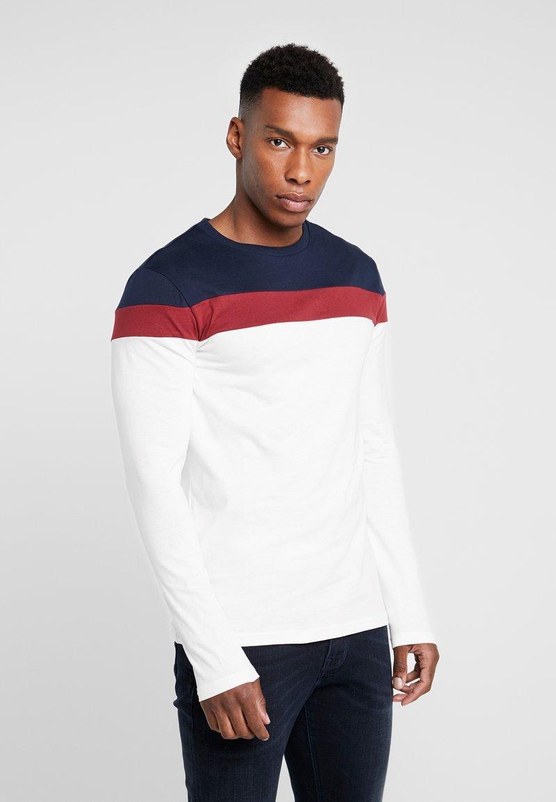 Pier One - Long sleeved top - offwhite/dark blue