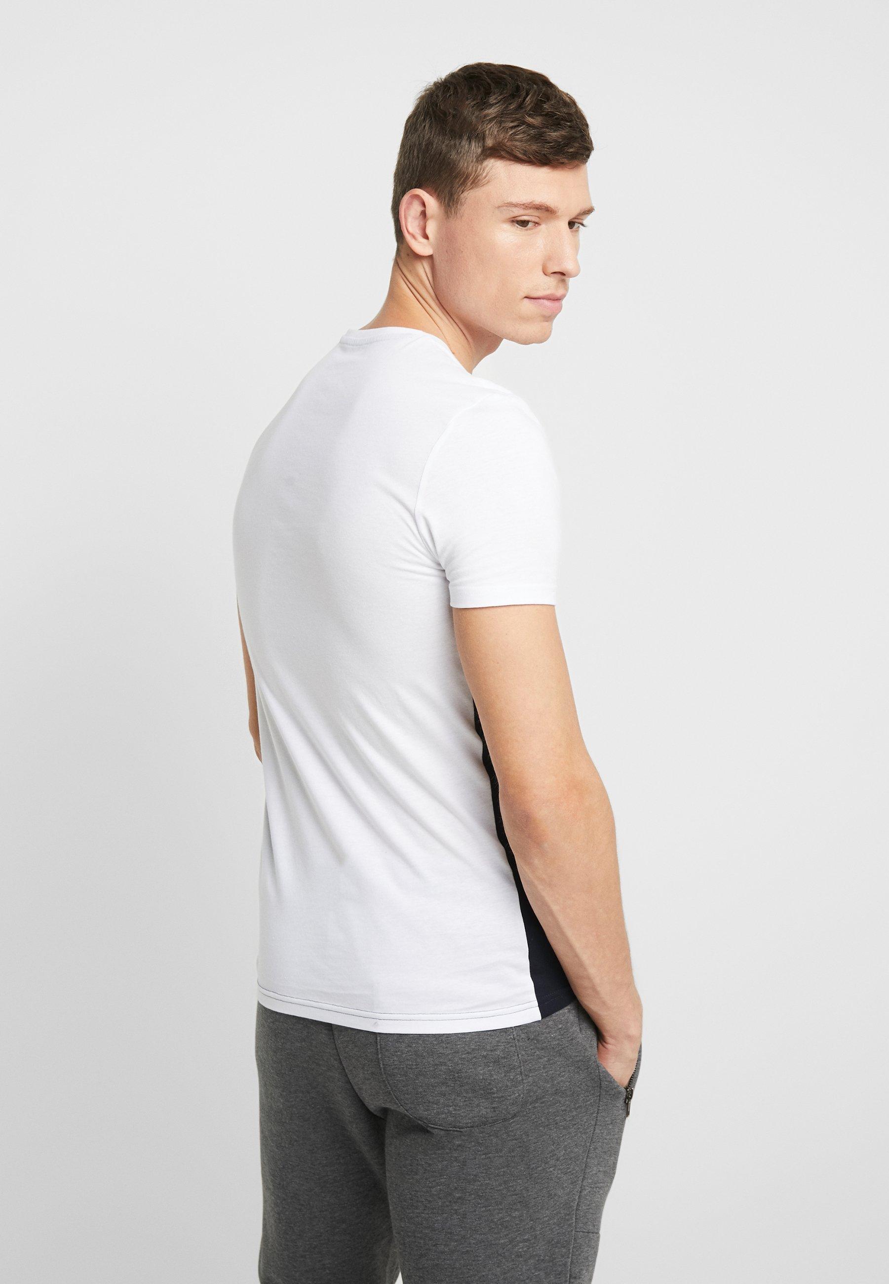 Pier One Basic T-shirt - white/blue