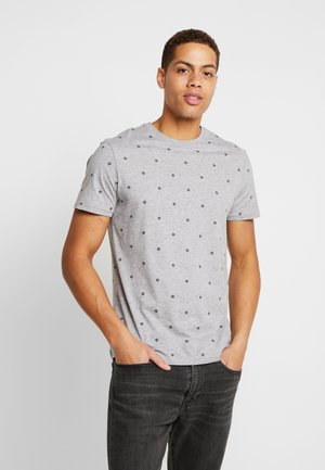 T-shirt z nadrukiem - mottled grey