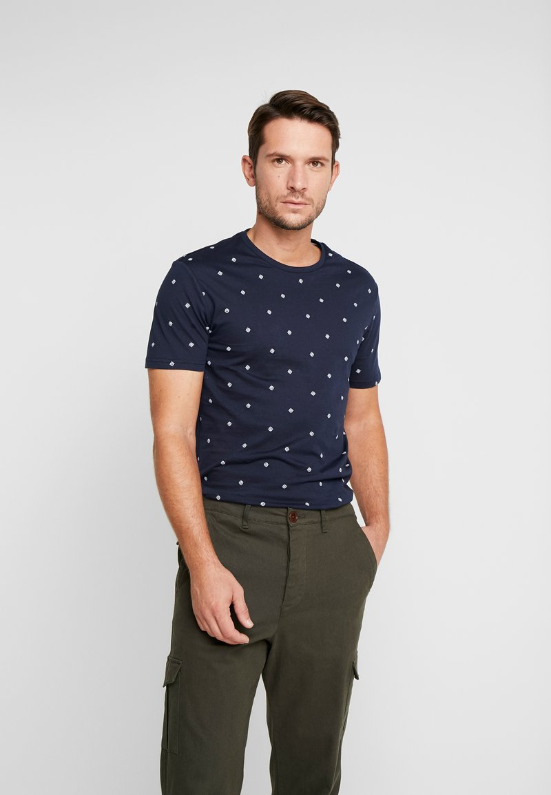 Pier One - Print T-shirt - dark blue