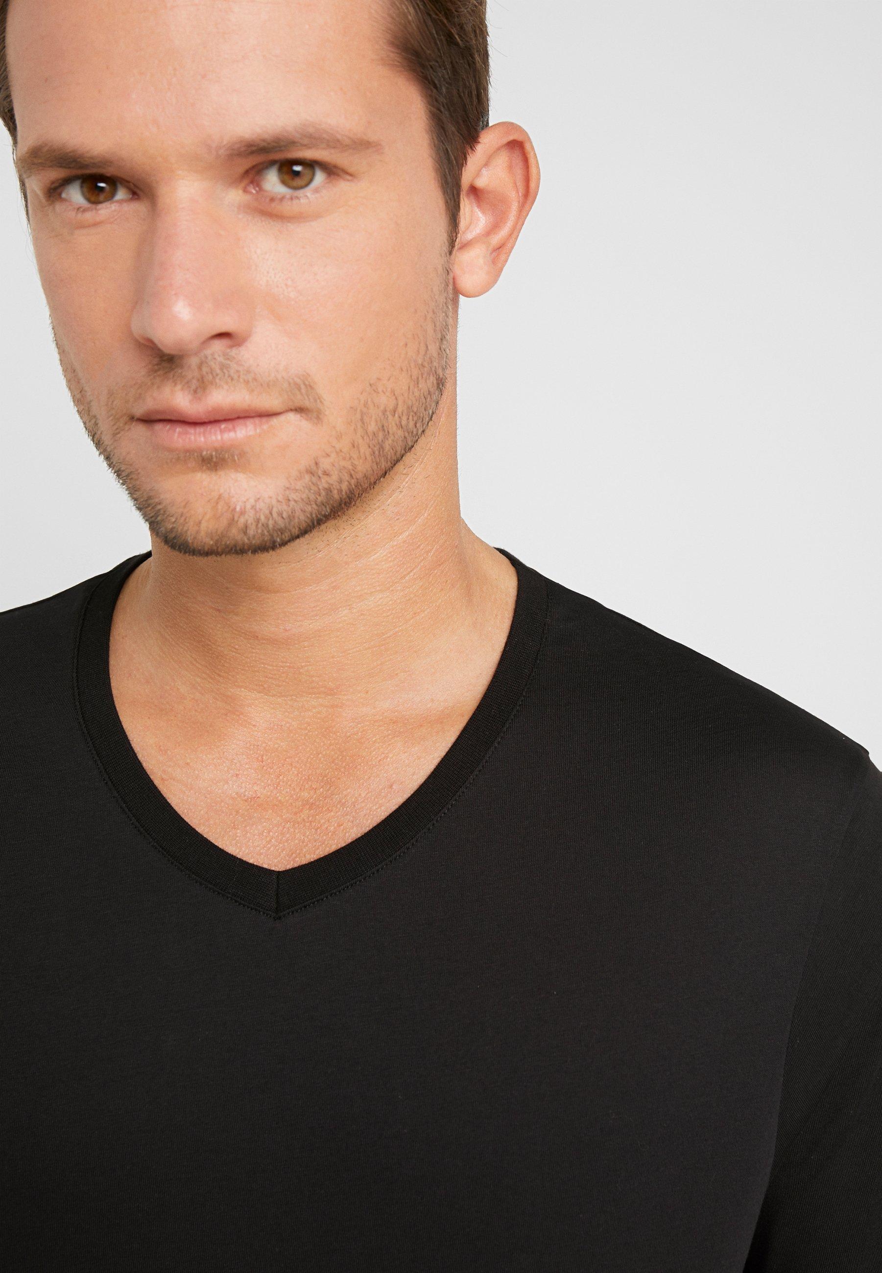 Pier One 3 PACK - T-shirt basic - white/black/light grey