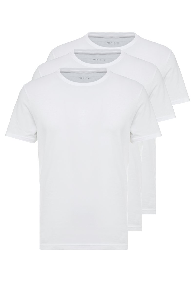 Pier One - 3 PACK - T-shirt basic - white