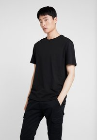 Pier One - 3 PACK - T-shirts basic - white/black/light grey - 1