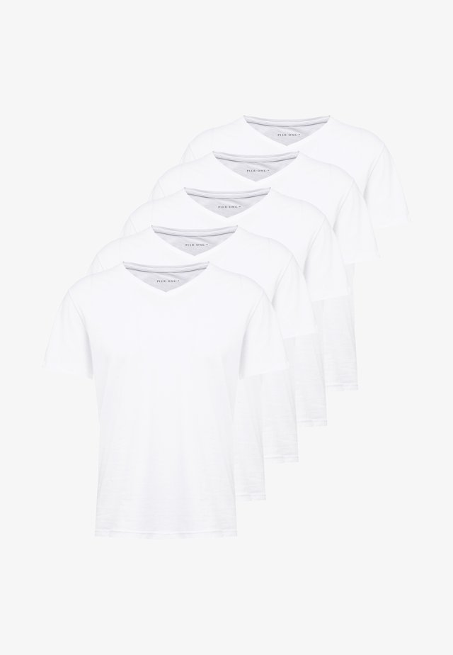 5 PACK - T-shirts - white