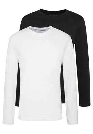 2 PACK - Long sleeved top - white/black