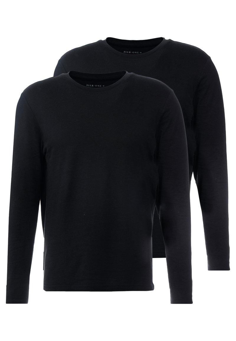 Pier One - 2 PACK - Bluzka z długim rękawem - black