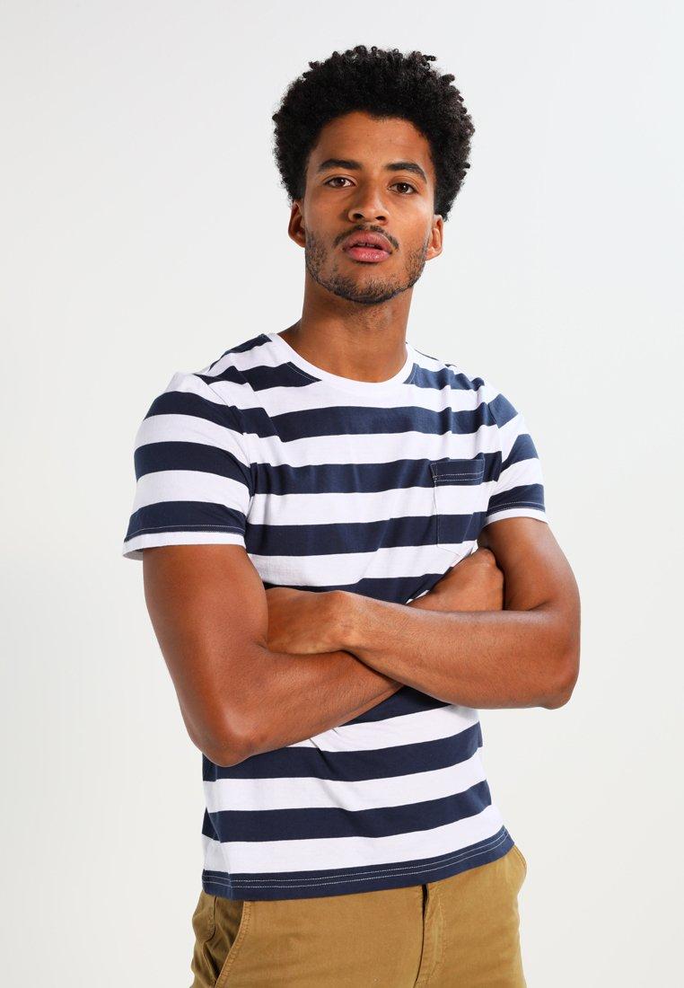 Pier One - T-shirt imprimé - dark blue/white