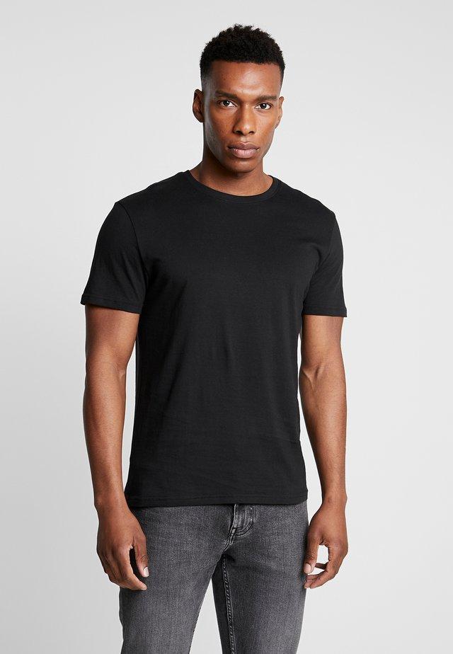 5 PACK - T-shirt basic - mottled bordeaux/white