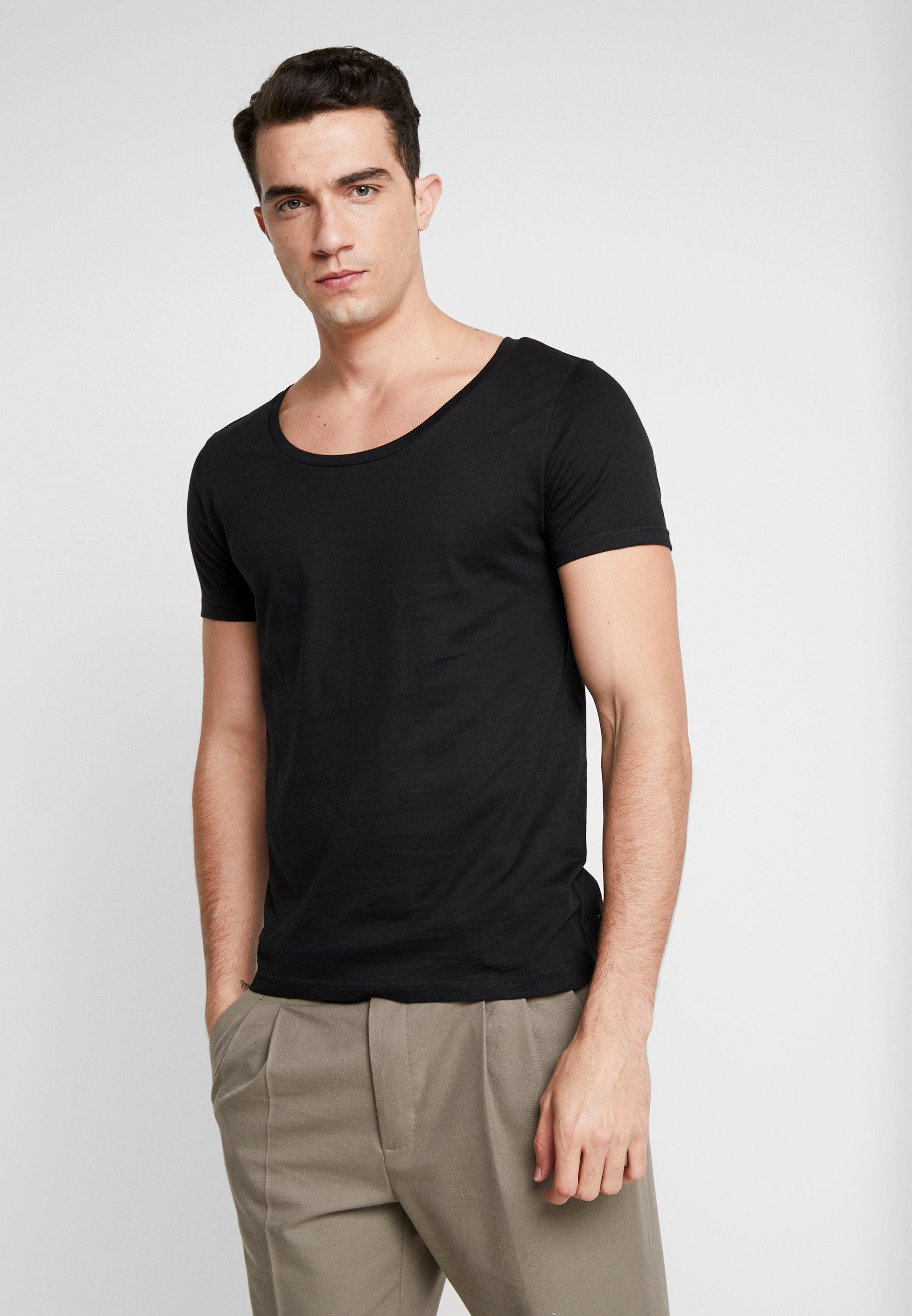 T shirt Pier One Basic Black X0NwOPn8kZ