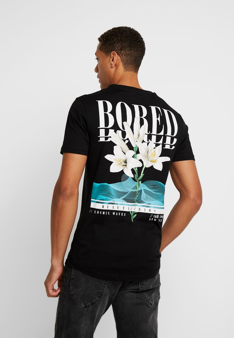 Pier One - Print T-shirt - black