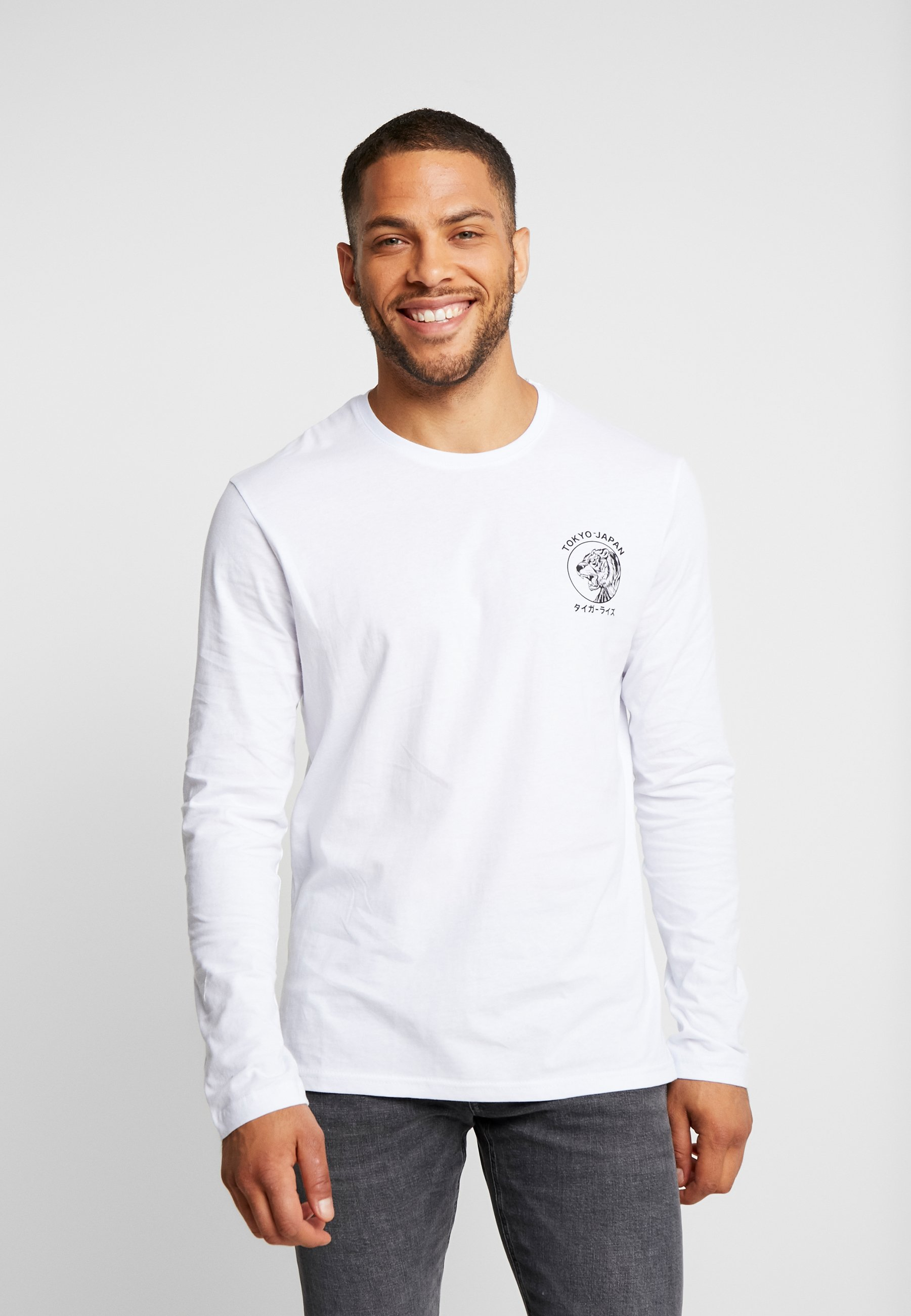 LonguesWhite shirt À Pier One T Manches f76gYby