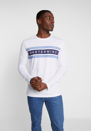 MASTERMIND STRIPED - Long sleeved top - white