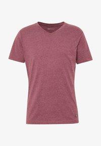 Pier One - T-shirt basic - mottled bordeaux - 4