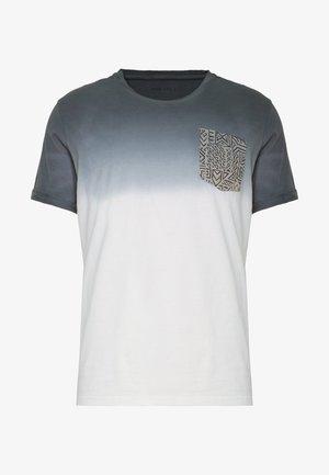 T-Shirt print - white/grey