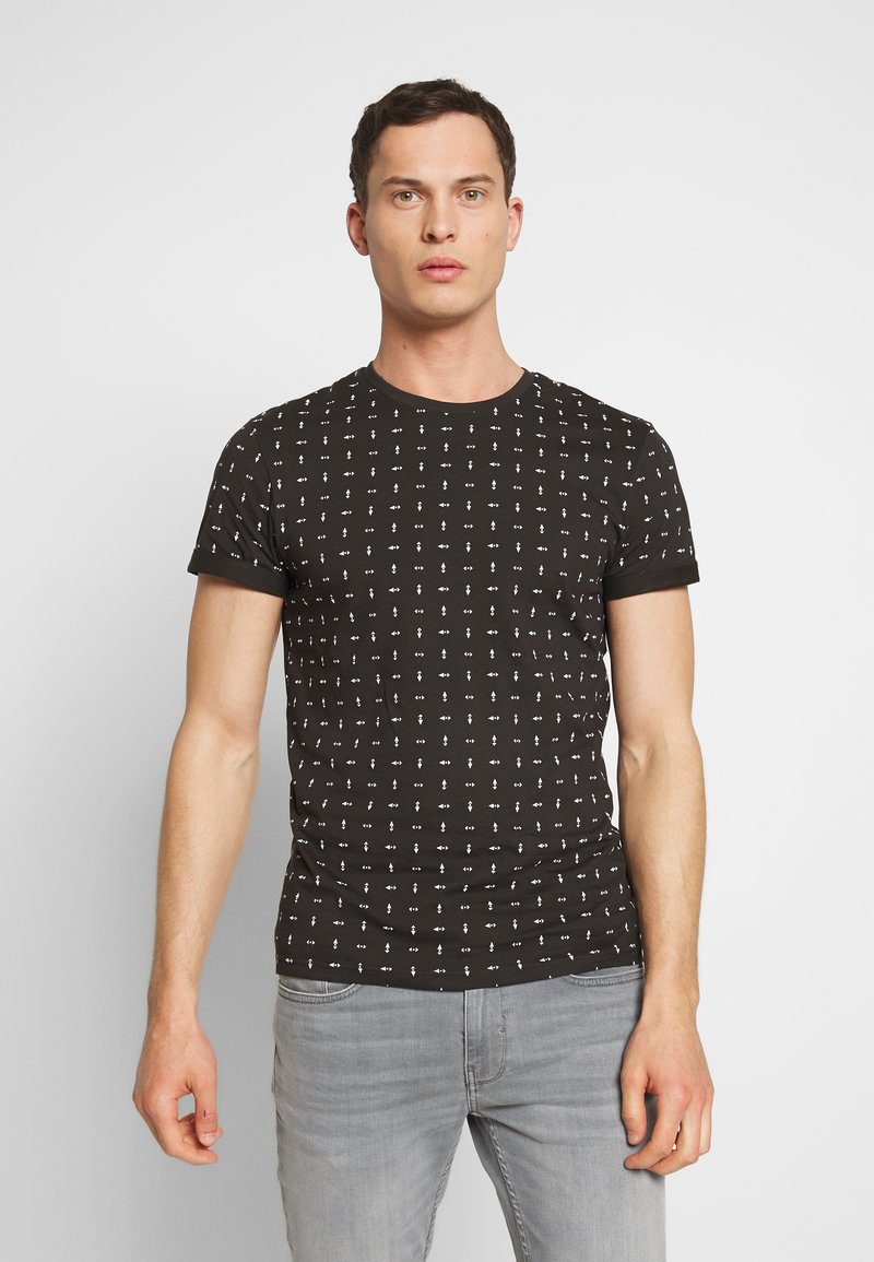 Pier One - Print T-shirt - black