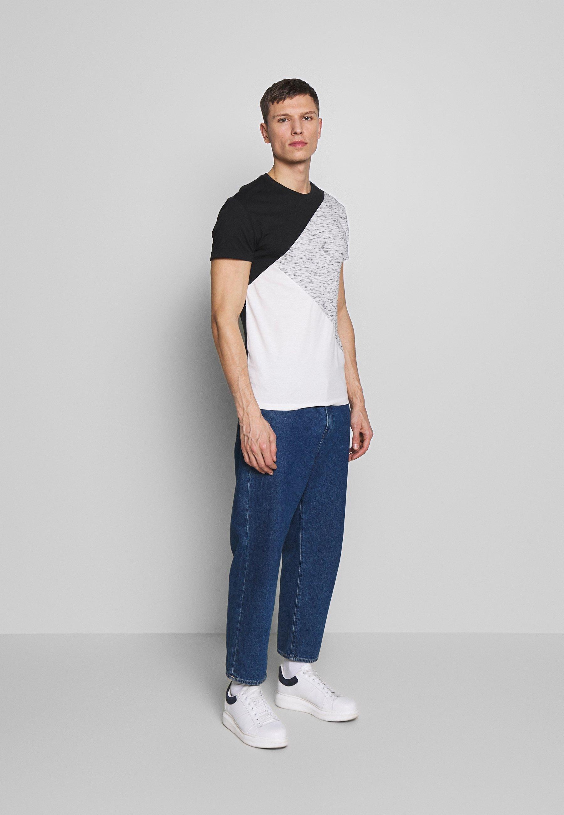 Pier One T-shirt imprimé - black / offwhite