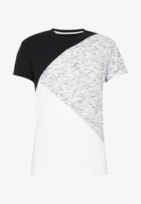 Pier One - T-shirt con stampa - black / offwhite - 4
