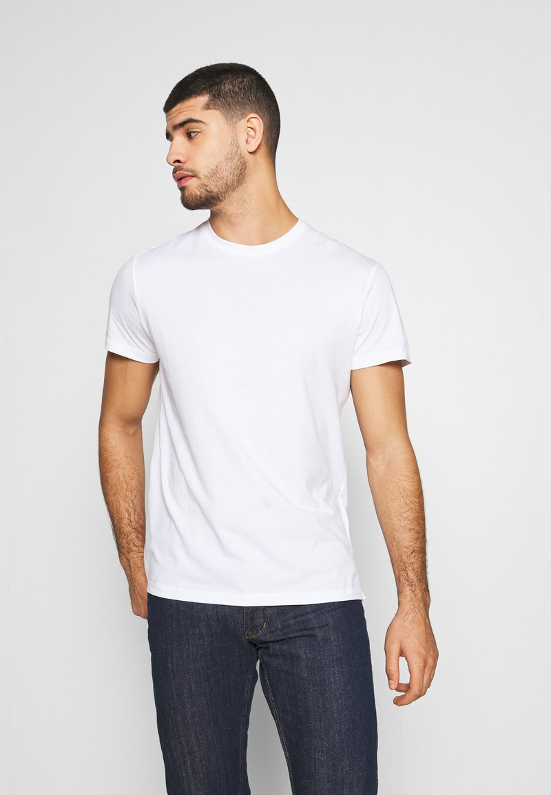 Pier One - LONGLINE - T-shirt imprimé - bright white