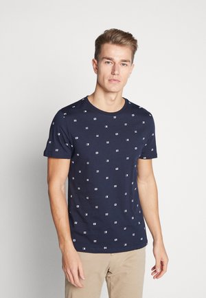 T-shirt print - dark blue