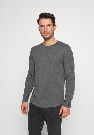 Maglietta a manica lunga - mottled dark grey