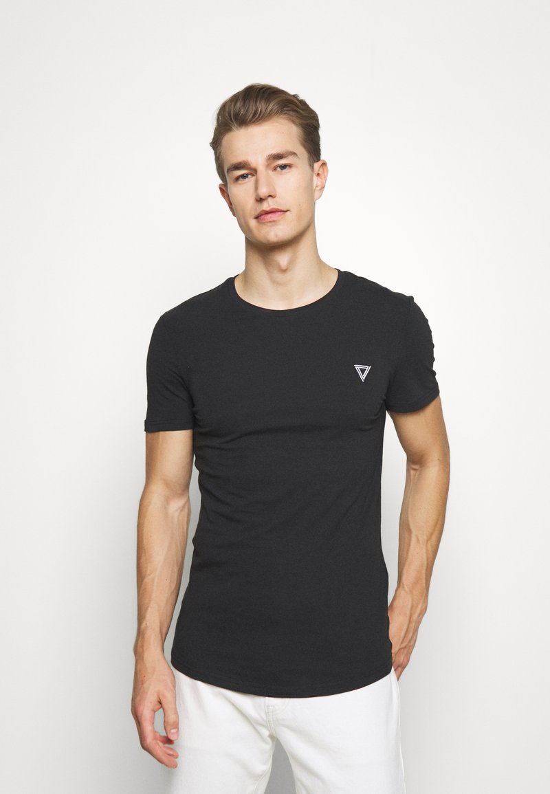 Pier One - Basic T-shirt - black