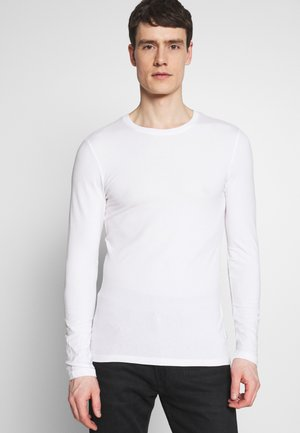 MUSCLE FIT LONGSLEEVE - Long sleeved top - white