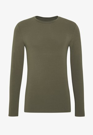 MUSCLE FIT LONGSLEEVE - Long sleeved top - olive
