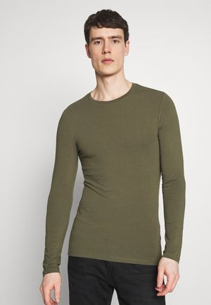 MUSCLE FIT LONGSLEEVE - Langarmshirt - olive