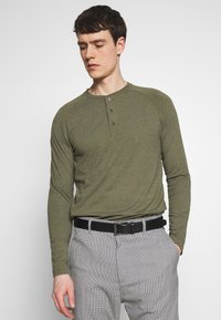 Pier One - Bluzka z długim rękawem - mottled olive - 0