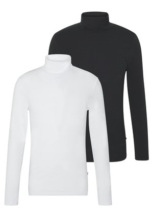 2 PACK - Maglietta a manica lunga - white/black